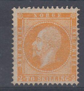 Norway 1856 2sk Oscar , unused no gum