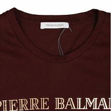 Pierre Balmain Men's Iconic Top Logoshirt Gold Logo Shirt Short 54 XXL
