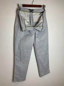 SPORTSCRAFT Size 10 Womens Grey Chino Casual Pants Trousers