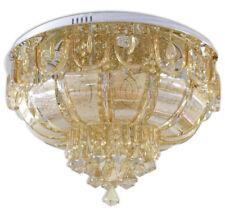 Lampadario da soffitto plafoniera  a led con sfere cristalli ambra 45 watt A24