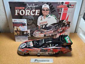 2002 John Force Castrol GTX / 11X Champ Auto w/JSA COA 1:24 NHRA Funny Car MIB