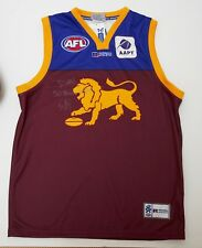 Brisbane Champion Jason Akermanis Hand Signed Jumper with Brownlow/Game Stats!