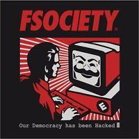 Mr Robot Logo Fsociety Democracy Hacked Mask Decal Logo Vinyl Sticker 4 Stickers