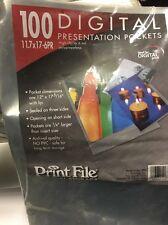"""Print File 6-mil Polypropylene Presentation Pockets, 100-10x15"""" #0671015"""