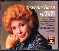 Massenet MANON Beverly sills Nicolai Gedda Gerard souzay Bacquier meute EMI 3cd