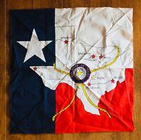 Texas Scarf Bandana Handkerchief Flag Of Texas Red White Blue Souvenir