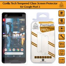 New Google Pixel 2 Genuine Gorilla Tech Brand Screen Protector Tempered Glass