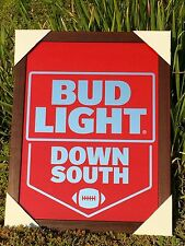 Bud Light Down South NFL Football  Beer Bar Mirror Man Cave Pub Mirror