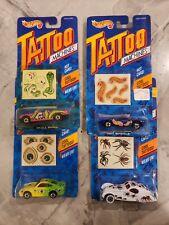 Hot Wheels 1992 Tattoo Machines Lot Of 4