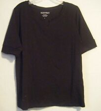 NWT Ellen Tracy Women's Elbow Sleeve Top, Black Size Large