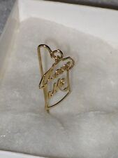 """Me, gold color, 1-7/8""""H Jewelry Stick Pin, Love"""