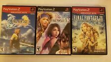 Final Fantasy X, Final Fantasy X-2, Final Fantasy Xii + Strategy Guide Ps2 Lot