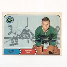 1968 O-PEE-CHEE Card #176 Gary Smith Oakland Goal NHL T.C.G. Printed In Canada