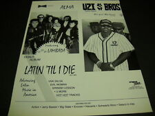 Uzi Bros We Got Mo Soul and Alma Latin Till I Die Dual rare Promo Poster Ad