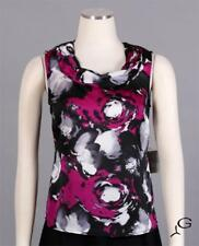 KASPER Magenta Multi Sz PS Women's Career Sleeveless Blouse Top $59 New