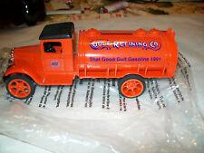 """Ertl #9880 1931 Hawkeye Tanker """"Gulf Refining Co"""" Coin Bank NOS MIB"""