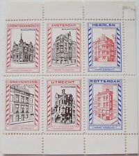 Ned. - Blok of 6 Bijkantoren Maatsch. van verzekering op het leven Noord Brabant