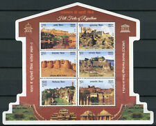 India 2018 MNH UNESCO World Heritage Hill Forts Rajasthan 6v M/S Tourism Stamps
