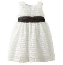 "NEW ""WHITE FRINGE"" Easter Dress Girls 6 Spring Summer Boutique Clothes Kids"