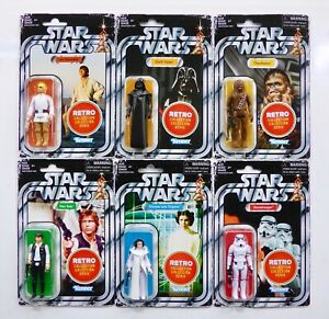 STAR WARS NEW HASBRO 2019 - 2021 THE RETRO VINTAGE COLLECTION ACTION FIGURE MOC