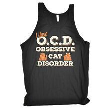 Obsessive Cat Kitten Birthday Joke Humour Gift Novelty Bella Vest Singlet Top