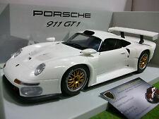 PORSCHE 911 GT1 de 1996 blanc au 1/18 UT Models 180966600 voiture miniature