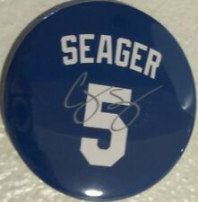Los Angeles Dodgers Corey Seager #5 Blue And Grey 2 Magnets Size 3X3 Inches.