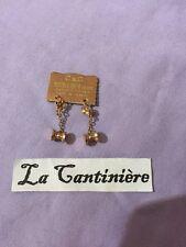 Ancien bijoux Boucle D Oreille Doublé Or -Jamais Portée - 270619