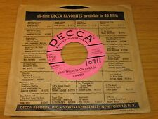 """PROMO COUNTRY 45 RPM - JEAN DEE- DECCA 30927 - """"SWEETHEARTS ON PARADE"""""""