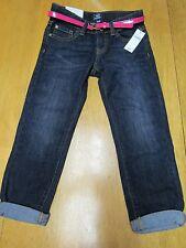 NWT Gap Kids Skinny Boyfriend fit Dark Blue Jeans & Pink Belt Size 6 yrs $36 BTS