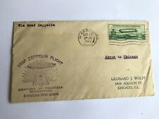 1933 Graf Zeppelin chicago flight dispatched from Akron