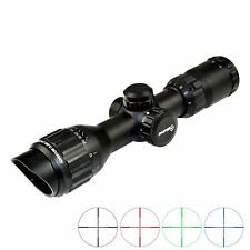 3-9x32 Tactical Rifle Scope Mil Dot RGB Scopes With Picatinny Rings + Lens Caps