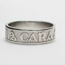 Ladies Size 4 Sterling Silver Irish Handcrafted Anam Cara Soul mate Ring 5mm