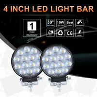 2X LED Work Light 140W 4 Inch Offroad Truck SUV UTE Spot Beam  Driving Lamp