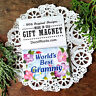 WORLDS BEST GRAMMY * Gift Magnet in Pkg Our Exclusive Design Made in USA New