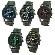 Neue Armbanduhr für Herren versch. Farben Quarzuhr analog Gummi Silikon Männer