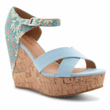 Wedge Floral Lace-up Heels for Women