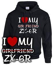 Biker Sweatshirt I LOVE MY girlfriend ZX-6R Tuning Ninja Motorrad Kleidung