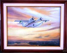 Jimmy Buffett Sunrise flight Airplane  Art Painting