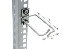 """19"""" Netzwerkschrank Rangierbügel 40x80mm für Serverschrank oder Wandschrank"""