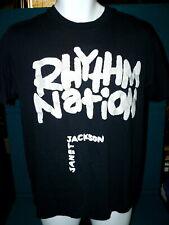 """1990 Vintage : JANET JACKSON """"Rhythm Nation"""" CONCERT Tour T-SHIRT @ Size L"""