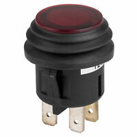 SPST Push Button Switch 12 VDC 20A Red