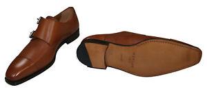 Mezlan Rocky Texture Double Monk Strap Genuine Leather Men's Dress Shoes NIB