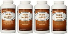 4 BOTTLES GNC Triple Lecithin 1200 MG 1200MG softgels  720 COUNT
