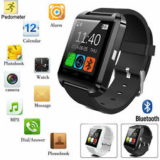 Black Bluetooth Smart Wrist Watch Phone Mate Camera For Android&IOS LG Sony