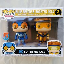 DC BLUE BEETLE & BOOSTER GOLD Funko POP Metallic Figures 2 Pack PX Previews Excl
