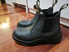 Cougar Black Leather Rambler Print Steel Cap Work Safety shoes Boots Size 6