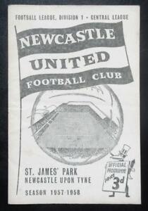 NEWCASTLE UNITED v BURNLEY 1957/58 Division 1 28th April Re-arranged Match RARE