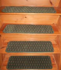 "13 Step  9"" x 30"" Landing 26'' x 30'' Stair Treads Tufted WOOL WOVEN CARPET ."