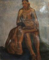 Antique realist large oil painting nudes